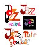Jazz Festival Decorative Text Arkivbilder