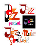 Jazz Festival Decorative Text Stock Images
