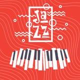 Jazz Festival Live Music Concert Poster Advertisement Banner. Vector Illustration Stock Photos