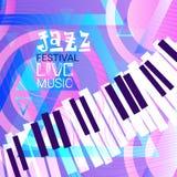 Jazz Festival Live Music Concert Poster Advertisement Banner. Vector Illustration Stock Photo