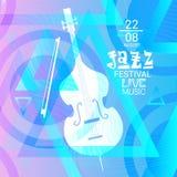 Jazz Festival Live Music Concert Poster Advertisement Banner. Vector Illustration Royalty Free Stock Photo