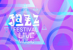 Jazz Festival Live Music Concert Poster Advertisement Banner. Vector Illustration Stock Image
