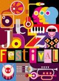 Jazz Festival Poster Royalty-vrije Stock Afbeeldingen