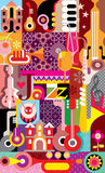 Jazz Festival Poster Immagine Stock