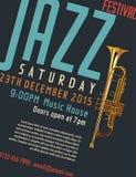Jazz Festival Poster Imagens de Stock