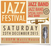 Jazz Festival Poster Arkivfoton