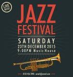 Jazz Festival Poster Royalty-vrije Stock Fotografie