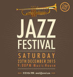 Jazz Festival Poster Royalty-vrije Stock Foto's