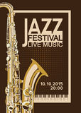 Jazz Festival Poster Fotos de Stock Royalty Free