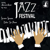 Jazz Festival Poster Images stock