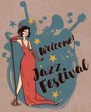 Jazz Festival Poster Arkivfoto