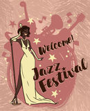 Jazz Festival Poster Royaltyfria Foton