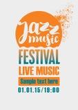 Jazz Festival Poster Fotografia Stock Libera da Diritti