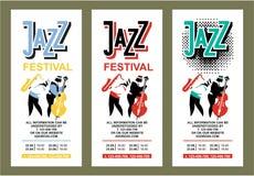 Jazz Festival Poster Immagini Stock