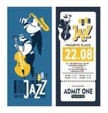 Jazz Festival Poster Fotografie Stock Libere da Diritti