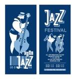 Jazz Festival Poster Fotografia Stock
