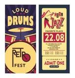 Jazz Festival Poster Immagine Stock Libera da Diritti