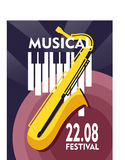 Jazz Festival Poster Photographie stock