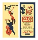 Jazz Festival Poster Fotografie Stock