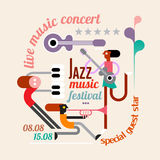 Jazz Festival Poster Royalty Free Stock Photo