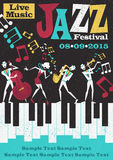 Jazz Festival Poster abstrata retro Imagem de Stock Royalty Free