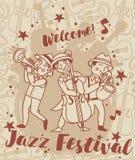 Jazz festival poster Stock Photography