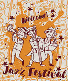 Jazz festival poster Royalty Free Stock Photography