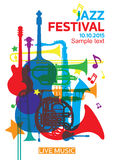 Jazz festival poster2 Royalty Free Stock Photography