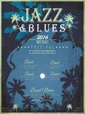 Jazz festival poster design Royalty Free Stock Photo