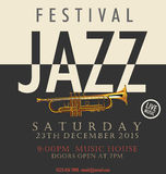 Jazz festival poster. Illustration Royalty Free Stock Photo