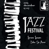 Jazz festival Poster. Retro styled Jazz festival Poster. Vector illustration Royalty Free Stock Photo