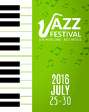 Jazz festival poster with a saxophone. Musical flyer design template Stock Image