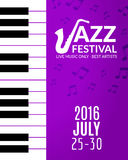 Jazz festival poster with a saxophone. Musical flyer design template Stock Photo