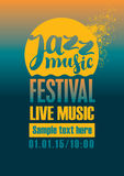 Jazz festival poster. Poster for the jazz festival with a sun and sea Stock Image
