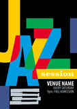 Jazz Festival Poster Template Stock Image