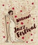Jazz festival poster Stock Photo