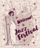 Jazz festival poster Royalty Free Stock Image