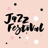 Jazz festival text lettering calligraphy color royalty free illustration