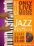 Jazz Festival Vertical Poster Photographie stock
