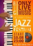 Jazz Festival Vertical Poster Illustration Libre de Droits