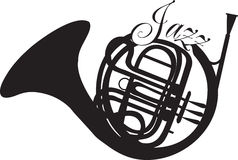 Jazz French Horn Stock Images