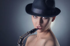 Jazz girl Stock Image