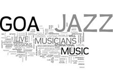 Jazz Goa Text Background  Word Cloud Concept Royalty Free Stock Image