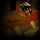 Jazz guitar close up acoustic speakers Stock Photos