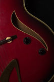 Jazz guitar curves Royalty Free Stock Images