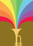 Jazz Horn Blast: Rainbow Royalty Free Stock Photo