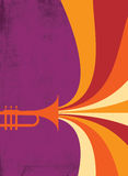 Jazz Horn Blast: Red, Violet. Hot jazz, cool jazz, the trumpets play on! This dynamic horn blast is useful in a variety of applications. Designed by Jazz: Cool Royalty Free Stock Photo