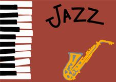 Jazz illustration with space for text. stock illustration