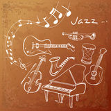 Jazz Instrument Background Illustration Libre de Droits