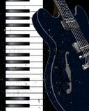 Jazz Instrument Background Illustration de Vecteur
